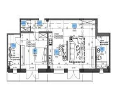 For sale, 1 bedroom apartment, Vila Hamburg, Coresi