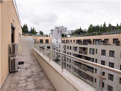 For rent, 1 bedroom duplex penthouse, Herastrau