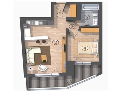 Apartament 2 camere, Bd Dacia - Piata Romana