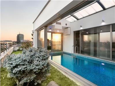 8 room duplex penthouse, private swimming pool, Primaverii