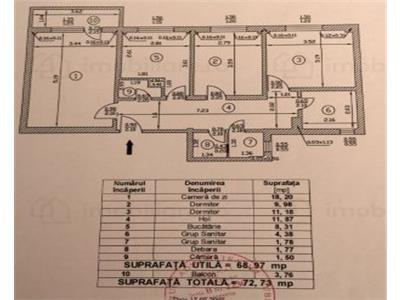 Apartament 3 camere, de vanzare, Dristor